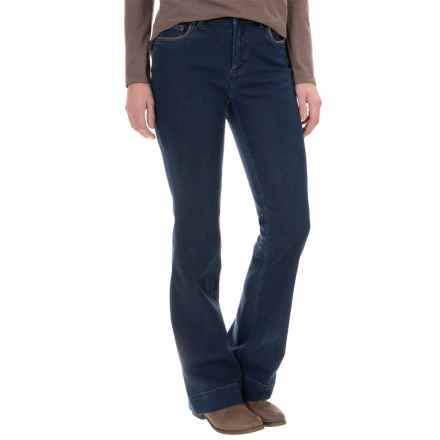 Foxcroft Bootcut Stretch Jeans (For Women) in Dark Rinse - Closeouts