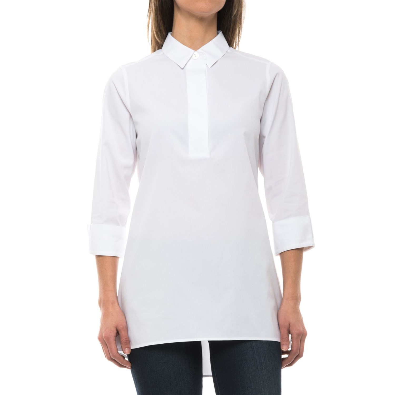 Foxcroft Bre Stretch Non Iron Tunic Shirt For Women
