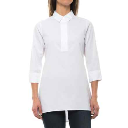 Foxcroft Bre Stretch Non-Iron Tunic Shirt - Long Sleeve (For Women) in White - Closeouts