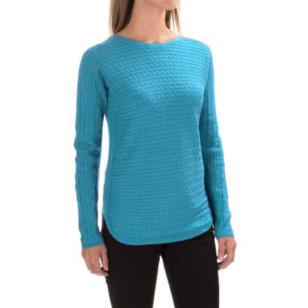 Foxcroft Cable-Knit Sweater (For Women) in Ice Blue - Closeouts