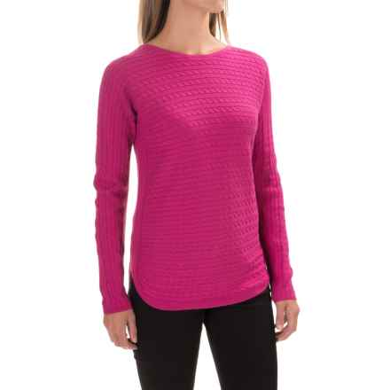 Foxcroft Cable-Knit Sweater (For Women) in Pink Frost - Closeouts
