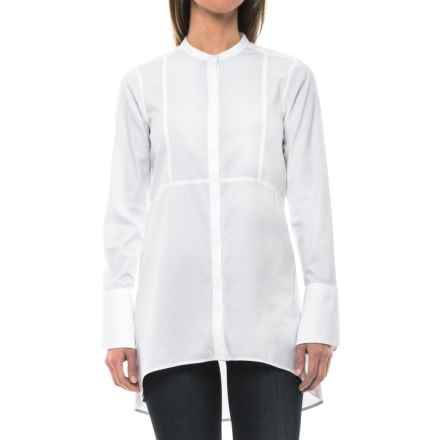 Foxcroft Cally Solid Stretch Non-Iron Tunic Shirt - Long Sleeve (For Women) in White - Closeouts