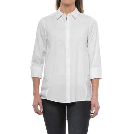 Foxcroft Casey A-Line Non-Iron Stretch Tunic Shirt - 3/4 Sleeve (For Women)