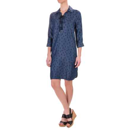 Foxcroft Chloe Sailboat TENCEL® Dress - 3/4 Sleeve (For Women) in Sailboats - Closeouts