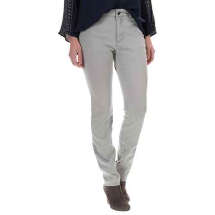 Foxcroft Classic Detail Jeans - Straight Leg (For Women) in Silver - Closeouts