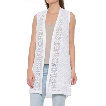 Foxcroft Cora Knit Vest - Open Front (For Women) in White - Overstock