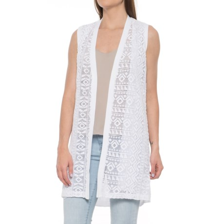 Foxcroft Cora Knit Vest - Open Front (For Women) in White