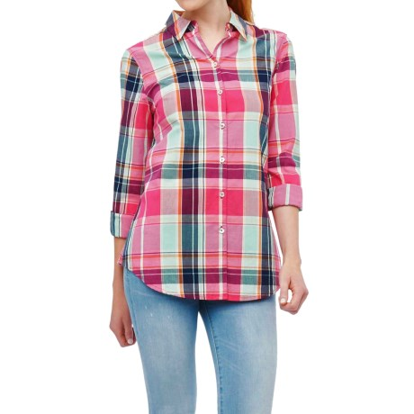 Foxcroft Cotton Plaid Shirt Long Sleeve (For Women)