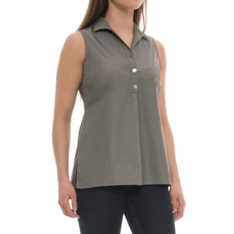 Foxcroft Dani Shirt - Sleeveless (For Women) in Olive