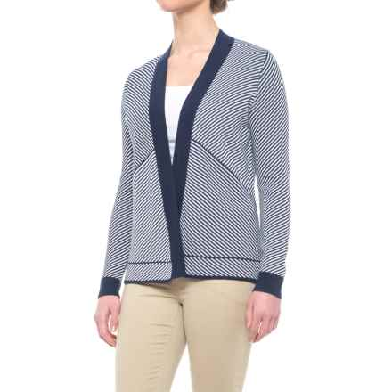 Foxcroft Daphne Cardigan Sweater - Open Front (For Women) in Navy - Closeouts