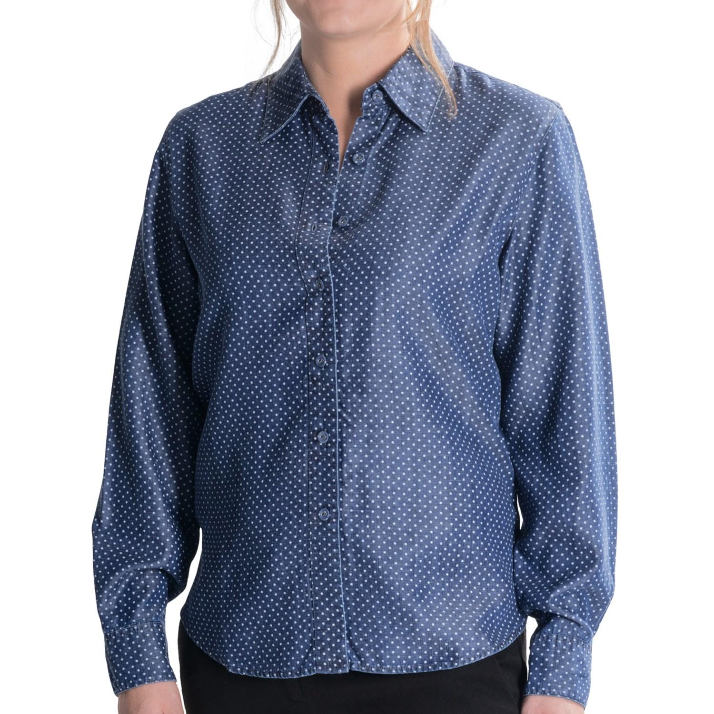 Long Womens Denim Shirt