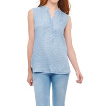 Foxcroft Dot Shirt - TENCEL®, Sleeveless (For Women) in Bluewash - Overstock