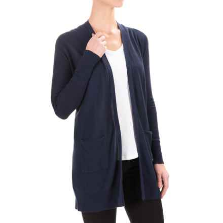 Foxcroft Duster Cardigan Sweater (For Women) in Navy - Closeouts
