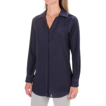 Foxcroft EC Ivy Tunic Shirt - Long Sleeve (For Women) in Navy - Closeouts