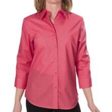 Foxcroft Essentials Shaped Shirt - Wrinkle-Free, 3/4 Sleeve (For Women) in Bright Coral - Closeouts