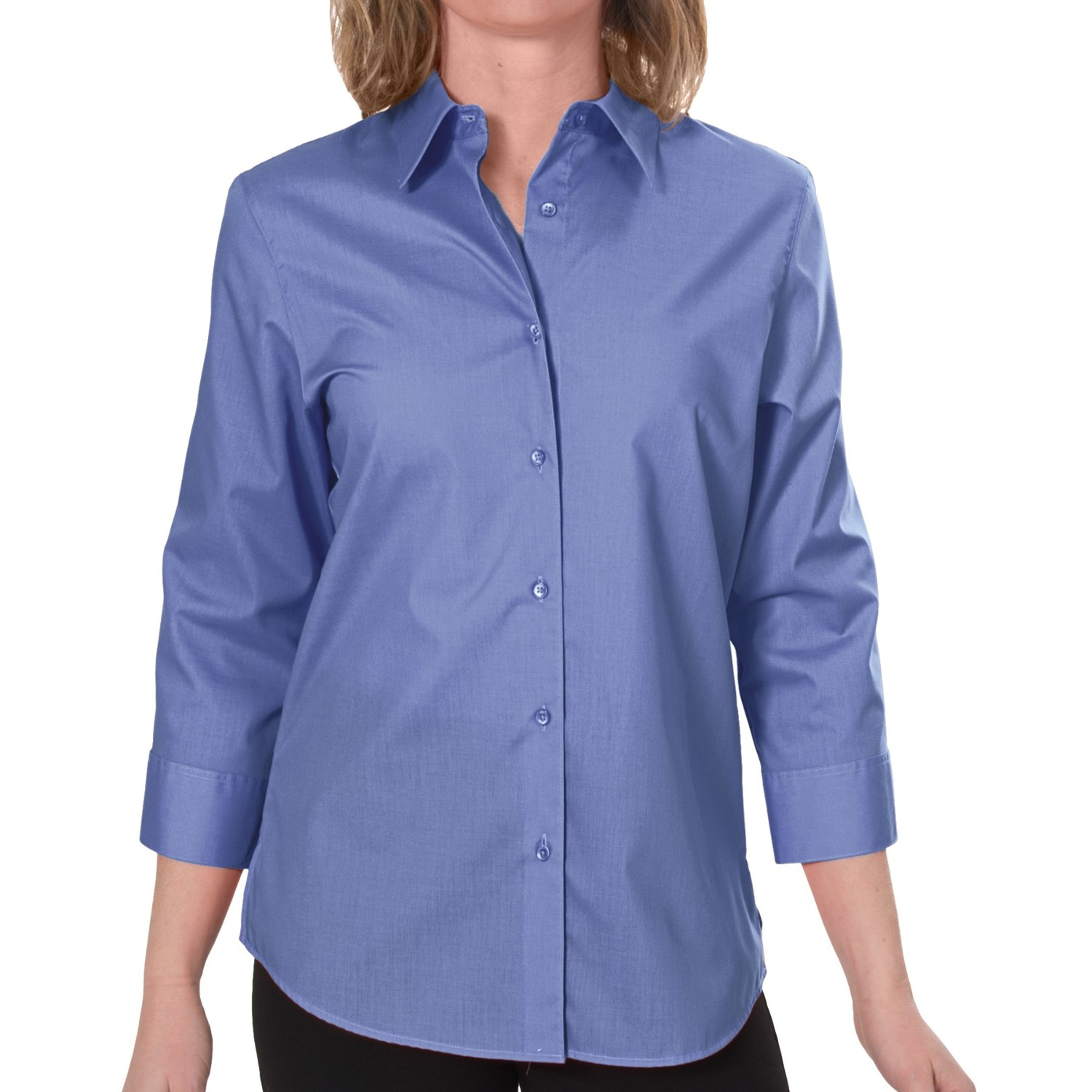 Foxcroft wrinkle free blouses sale lace henley blouse for Women s broadcloth shirts