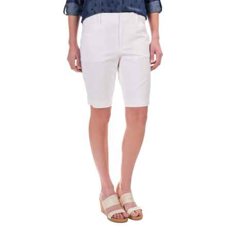 Foxcroft Everyday Bermuda Shorts - Cotton Blend (For Women) in White - Closeouts