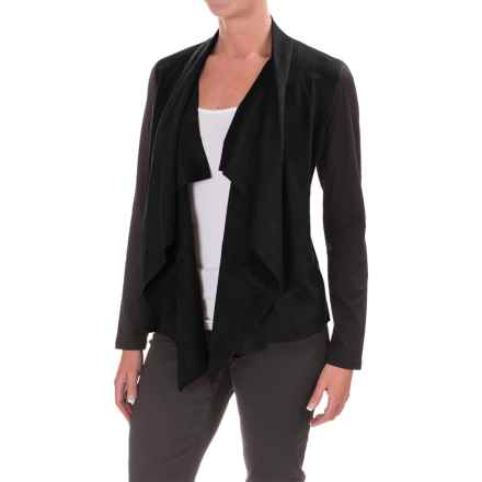 Foxcroft Faux-Suede Front Cardigan Jacket (For Women) in Black - Closeouts