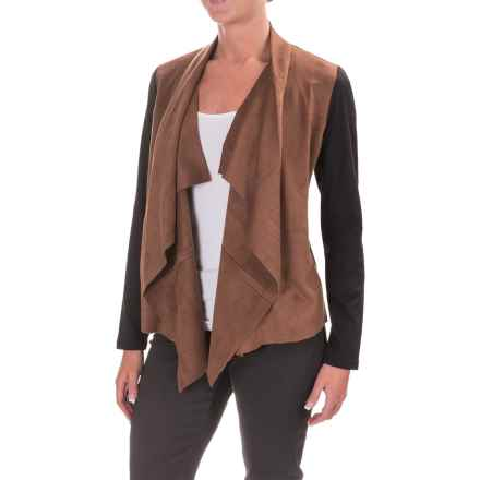 Foxcroft Faux-Suede Front Cardigan Jacket (For Women) in Multi - Closeouts