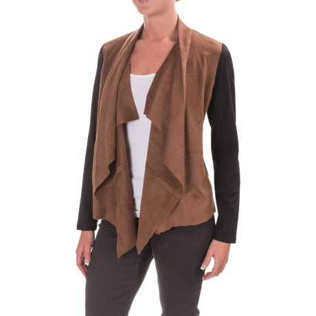 Foxcroft Faux-Suede Front Cardigan Jacket (For Women) in Multi