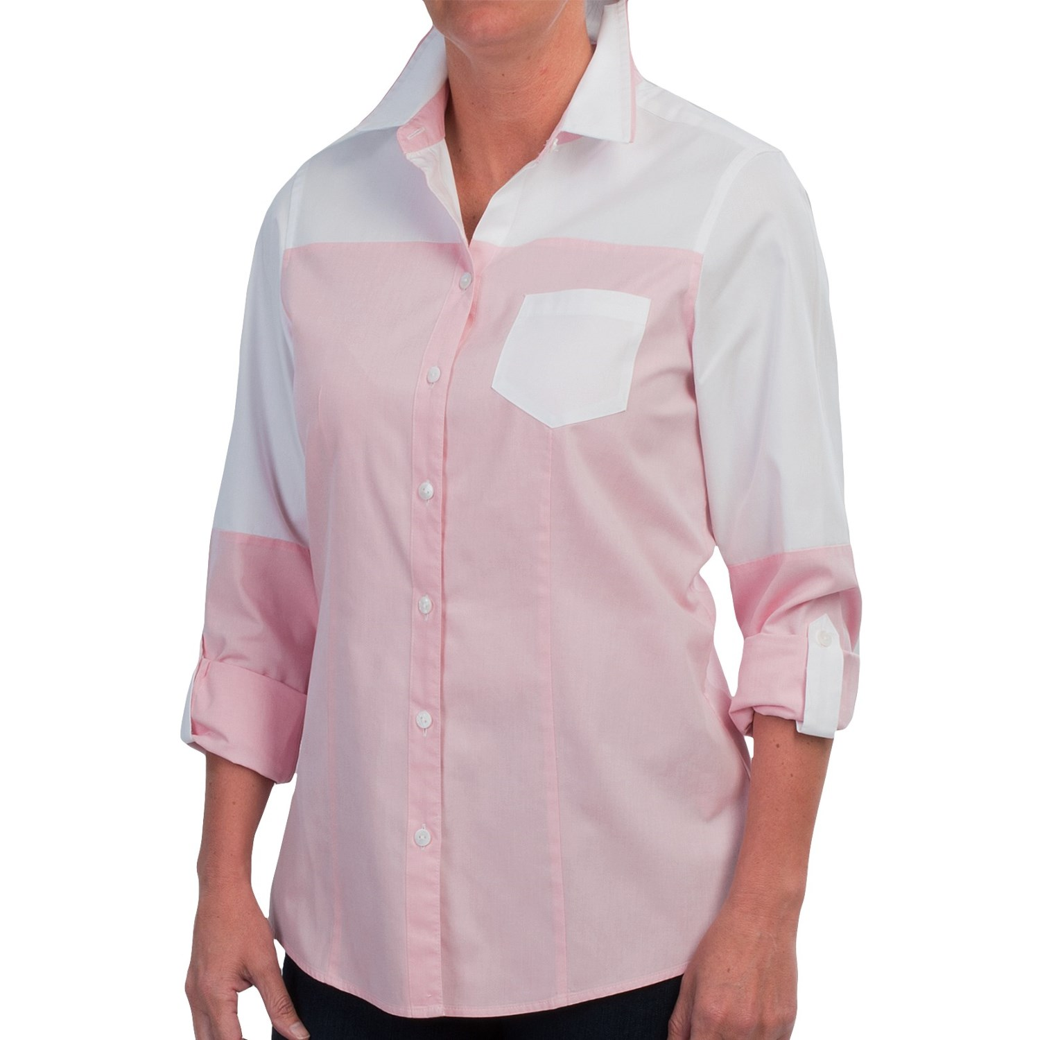 Foxcroft fitted button down shirt for women save 75 for Womens button down shirts fitted