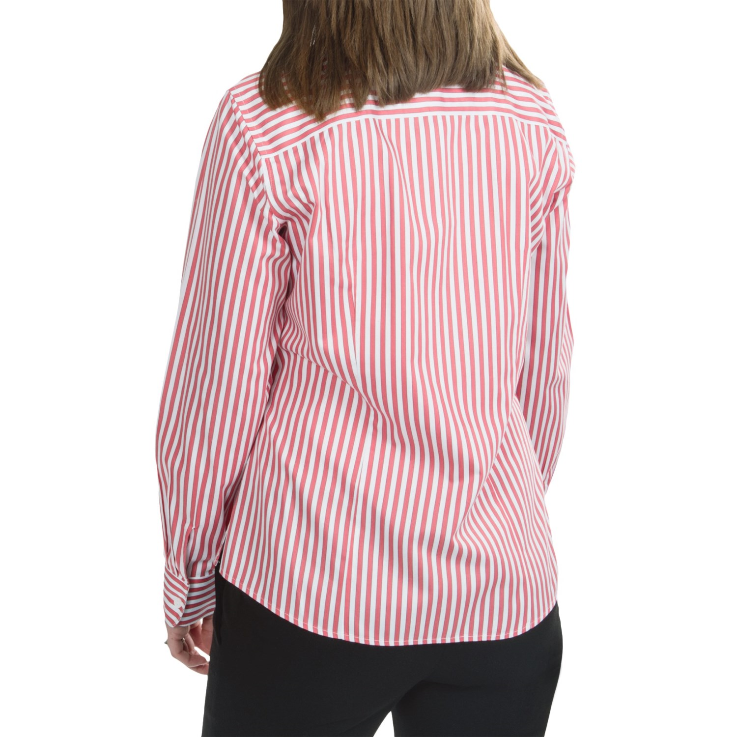 Foxcroft fitted cotton stripe shirt for women 6630p Wrinkle free shirts for women