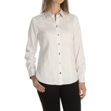 Foxcroft Fitted Solid Blouse - Long Sleeve (For Women) in White - Closeouts