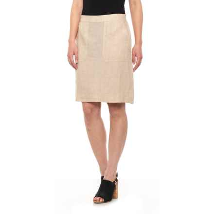 Foxcroft Flax Candice Skirt - Linen (For Women) in Flax - Closeouts