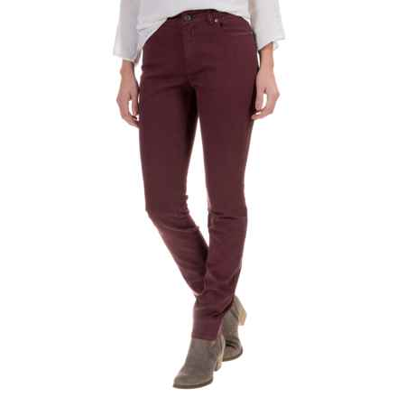 Foxcroft Garment-Dyed Jeans - Straight Leg (For Women) in Burgundy - Closeouts