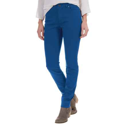 Foxcroft Garment-Dyed Jeans - Straight Leg (For Women) in True Blue - Closeouts