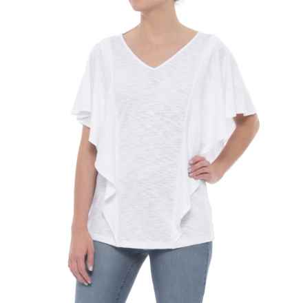 Foxcroft Kendall Knit Shirt - Short Sleeve (For Women) in White - Overstock