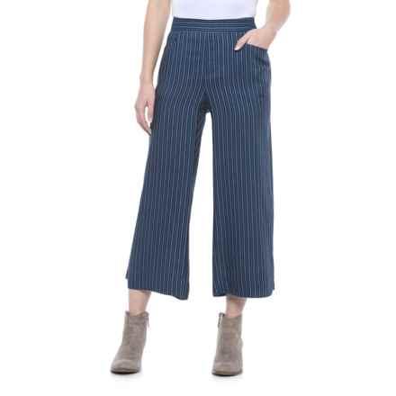 Foxcroft Kiera Pinstripe Pants - TENCEL® (For Women) in Navy - Closeouts