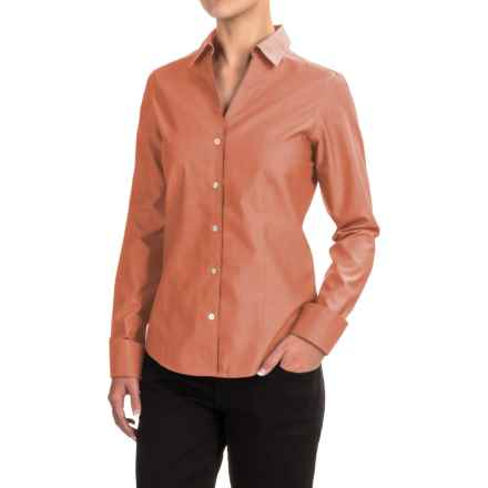 Foxcroft Lauren Oxford Shirt - Long Sleeve (For Women) in Pumpkin - Closeouts