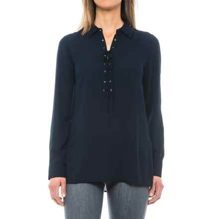 Foxcroft Leah Blouse - Long Sleeve (For Women) in Ink - Closeouts