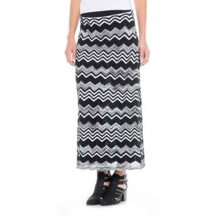 Foxcroft Mackenzie Chevron Skirt (For Women) in Black/White - Closeouts