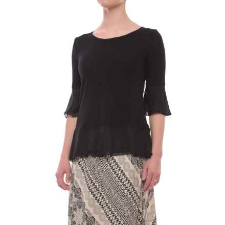 Foxcroft Nancy Shirt - Elbow Sleeve (For Women) in Black - Closeouts