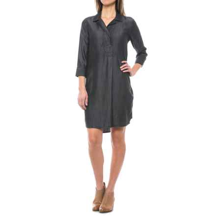 Foxcroft Nikki Dress - TENCEL®, 3/4 Sleeve (For Women) in Charcoal - Closeouts