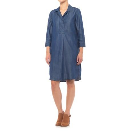 Foxcroft Nikki Dress - TENCEL®, 3/4 Sleeve (For Women) in Navy