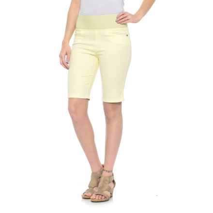 Foxcroft Nina Slimming Bermuda Shorts (For Women) in Buttercream - Overstock
