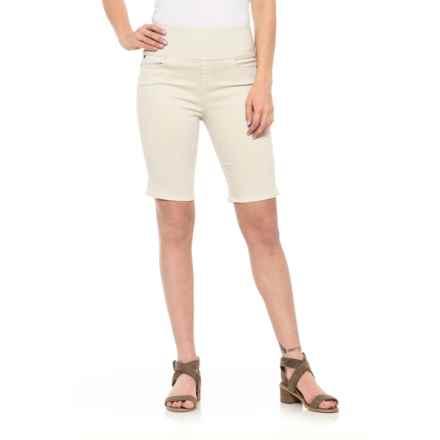 Foxcroft Nina Slimming Bermuda Shorts (For Women) in Stone - Overstock