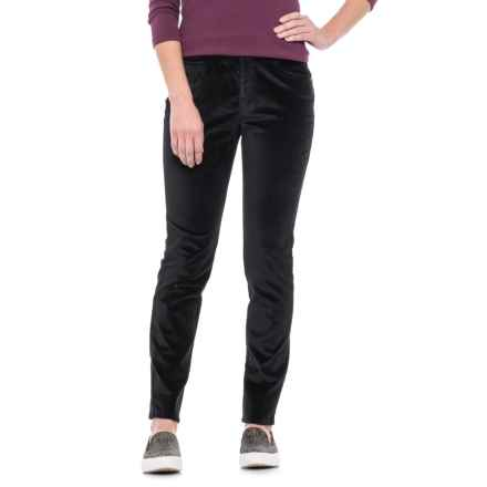 Foxcroft Nina Stretch Velvet Pants (For Women) in Black - Closeouts