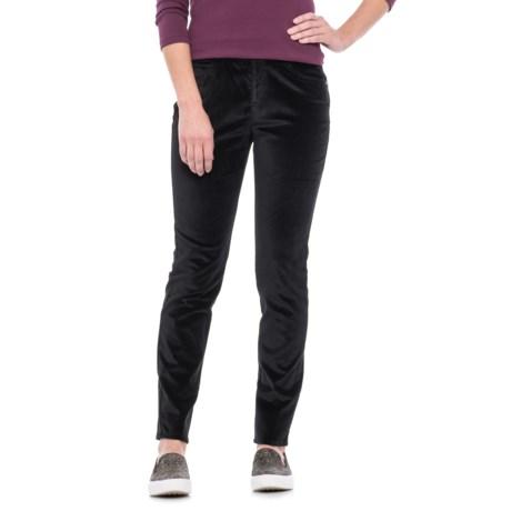 Foxcroft Nina Stretch Velvet Pants (For Women) in Black