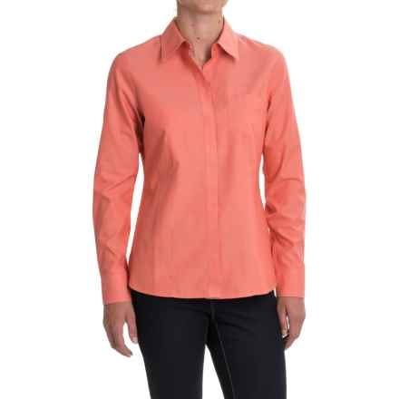 Foxcroft Pinpoint Oxford Non-Iron Shirt - Long Sleeve (For Women) in Spice - Closeouts