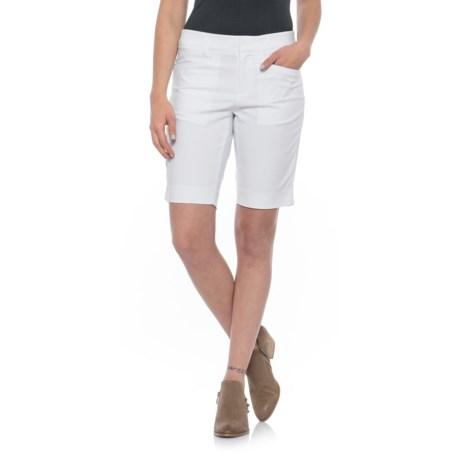 Foxcroft Rachel Everyday Bermuda Shorts (For Women) in White