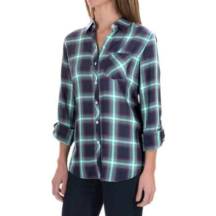 Foxcroft Rayon Herringbone Plaid Shirt - Long Sleeve (For Women) in Multi - Closeouts