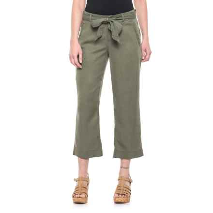 Foxcroft Rowan TENCEL® Cropped Pants (For Women) in Olive - Overstock