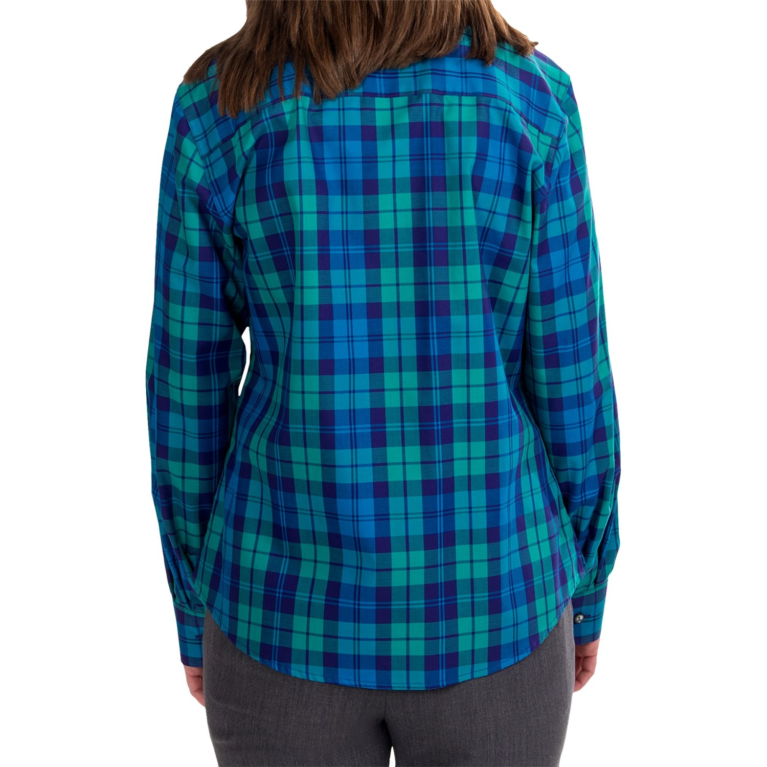 Foxcroft shaped plaid shirt for women 6630g save 83 Wrinkle free shirts for women
