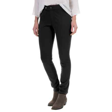 Foxcroft Slim-Fit Techno Pants (For Women) in Black - Closeouts