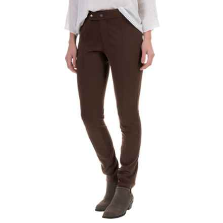 Foxcroft Slim-Fit Techno Pants (For Women) in Chocolate - Closeouts