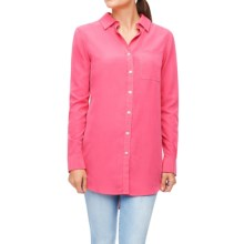 Foxcroft Solid Modal Tunic Shirt - Long Sleeve (For Women) in Cherry Blossom - Closeouts